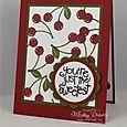 Back to Basics Stamping - Apple of My Eye Card Set (Cherries)