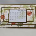 Vintage Leaves -- 2017 Desktop Calendar